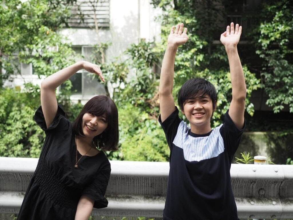 株式会社祭 代表清水(左)とメンバー植田